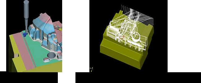 CADデータを元に作成したCAMデータ
